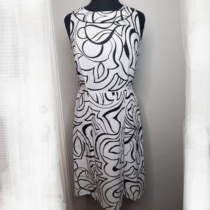 Ann Taylor Dress Womens Size 4 Black White